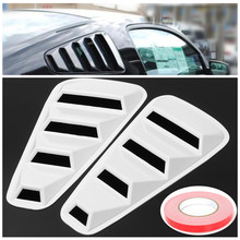 2pcs High quality Car ABS plastic Side Window Louvers Scoop Cover Vent Window Louver for Ford for Mustang 2005-2014