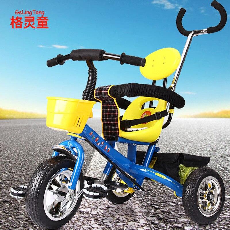 Ragazza Del Ragazzo Dei Bambini Triciclo 1-6 Anno Giardino Bicicletta Carrello Del Bambino Del Bambino Per Bambini Trolley Bici Bmx Trike Preferita