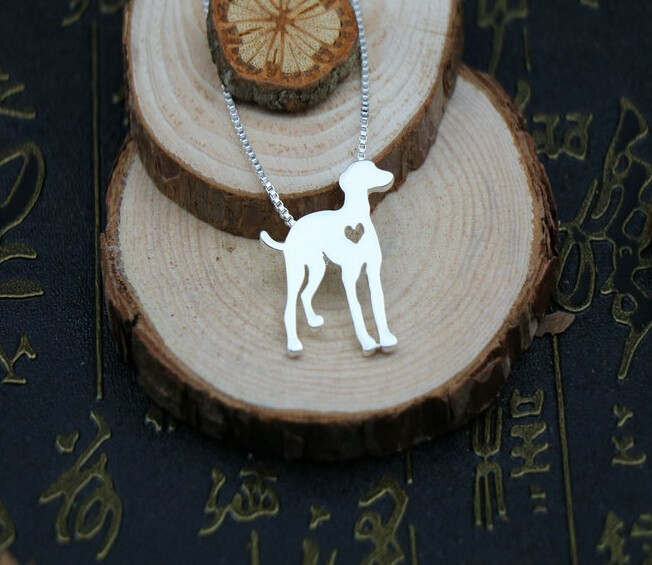 Summer fashion cute Greyhound necklace Lovely Pets Whippet pendant jewelry Silver/gold colors plated
