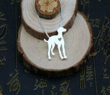 Колье whippet greyhound кулон для любимого питомца с золотым