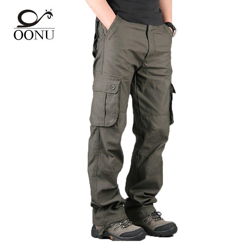 Nueva alta calidad de los hombres pantalones de carga militar para los hombres  multi bolsillo pantalones aa8d61bfce59