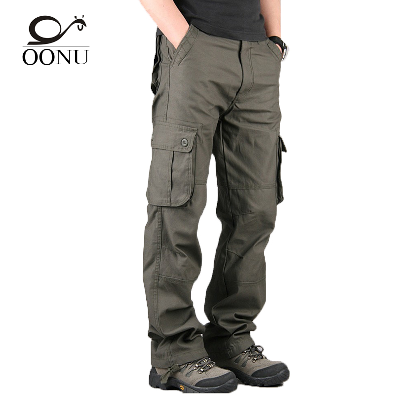 2017 NEW High Quality Men s Cargo Pants joggers Military for Men multi pocket Overalls tactical