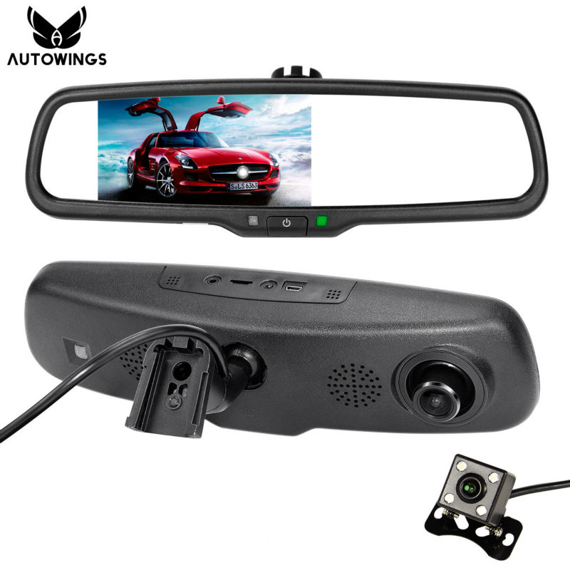 5 inch 1080p car rear view mirror dvr monitor for auto rear view camera with car parking. Black Bedroom Furniture Sets. Home Design Ideas