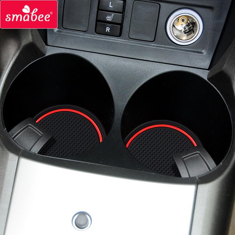 Smabee Gate Slot Mat For Toyota RAV4 2006 ~ 2012 XA30 RAV 4 2007 2008 2009 2010 2011 Cup Holders Non-slip Mats Accessories