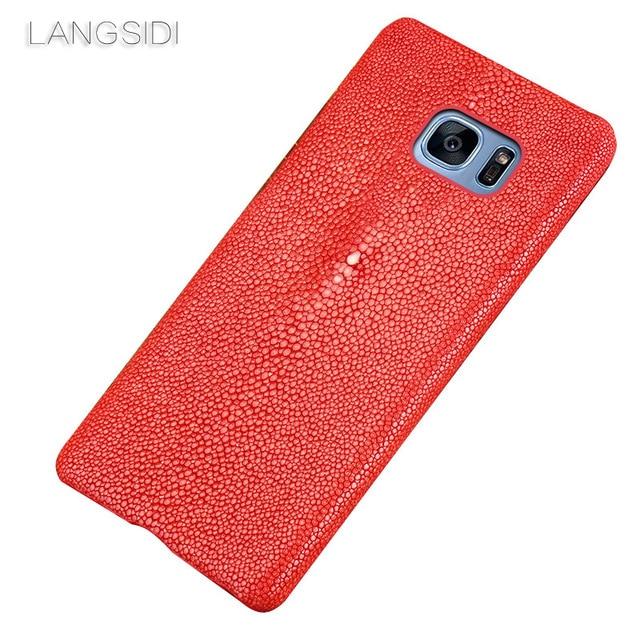 Wangcangli מותג נייד טלפון מקרה פרל דגים חצי חבילה נייד טלפון מקרה עבור סמסונג c8 טלפון נייד מקרה מותאם אישית עיבוד