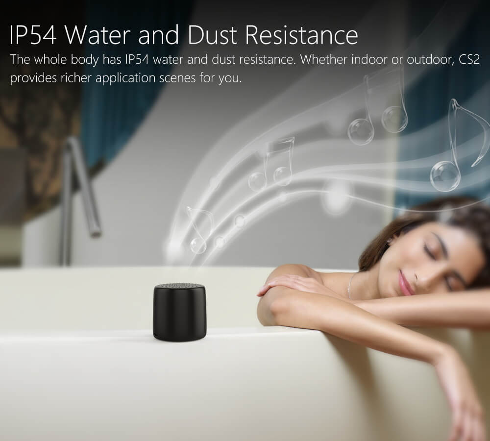 Ancord Micro Bluetooth Speaker TWS System Portable Tiny Body Loud Voice Shutter Button Selfie Features (Black)(China)