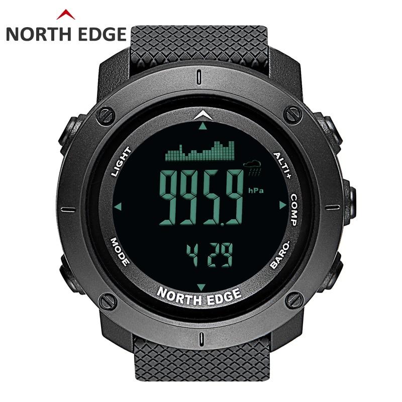 Северная край Для мужчин спортивный цифровые часы бег плавание в стиле милитари часы альтиметра барометр компас Водонепроницаемый 50 м