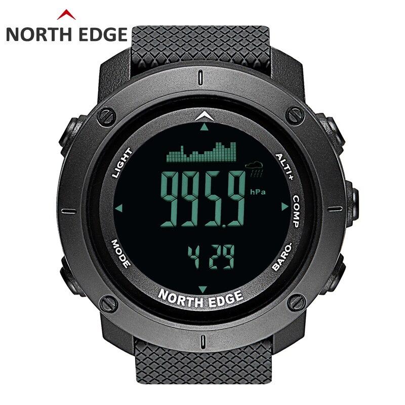 NORD BORD Hommes de sport montre digitale Heures de Course De Natation Militaire Armée montres altimètre baromètre Boussole étanche 50 m