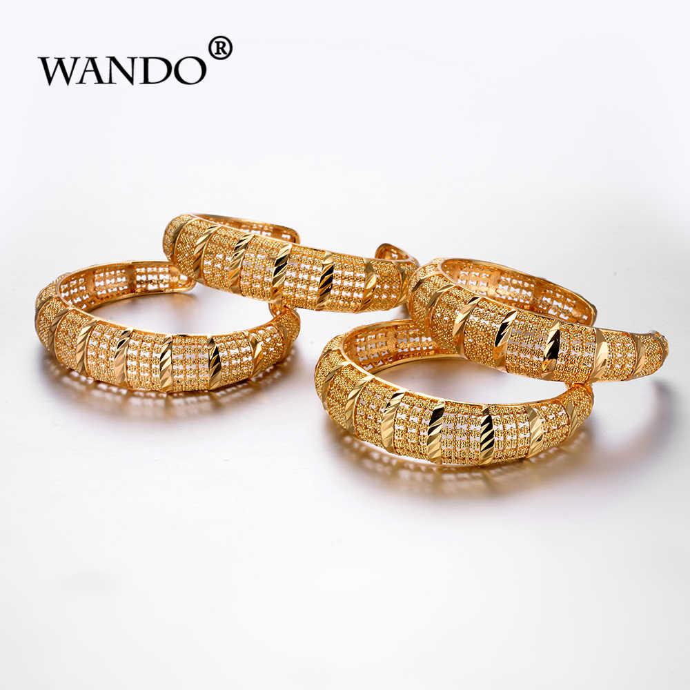 WANDO 4 pçs/lote recentes abrir charme pulseiras para mulheres marca de luxo da Cor do ouro oco beach party India pulseira de presente da jóia b164
