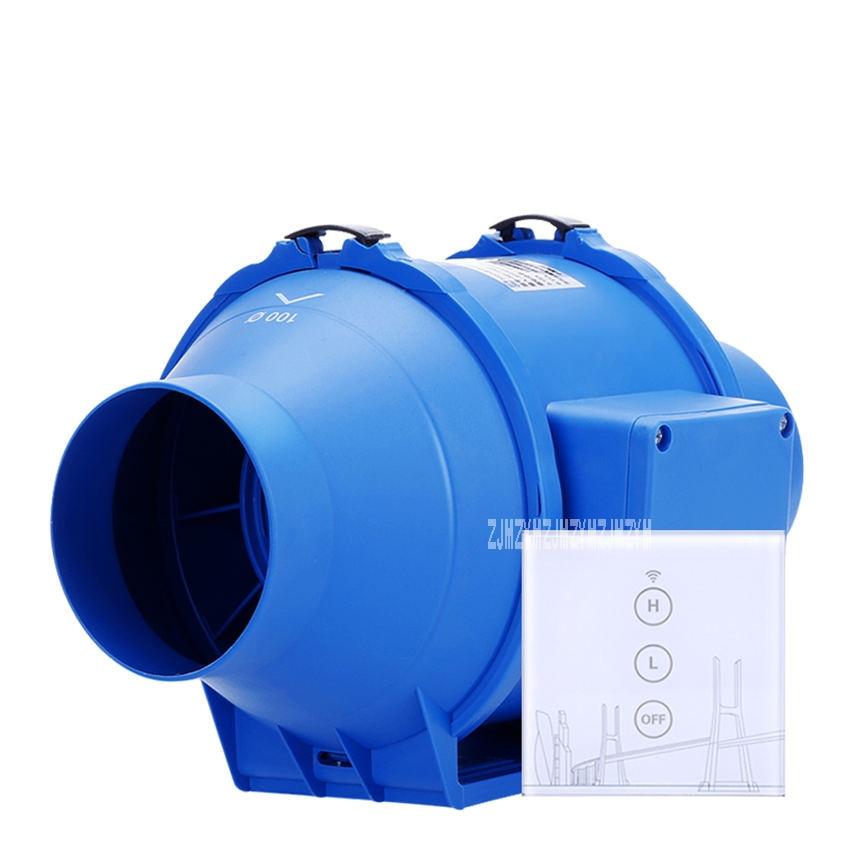 HF-100P Toilet Kitchen 4 Inch Pipe Ventilator Wireless Controller 2-Gear Adjustment Ventilator Extractor Fan Mute Duct Fan 220VHF-100P Toilet Kitchen 4 Inch Pipe Ventilator Wireless Controller 2-Gear Adjustment Ventilator Extractor Fan Mute Duct Fan 220V