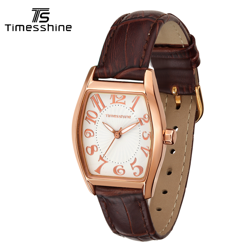 Timesshine Luxury Brand Watches Women Fashion Casual Beauty Fancy Womens Quartz Watch Waterproof 50m Genuine Leather Strap FW06 timesshine women watch quartz watch