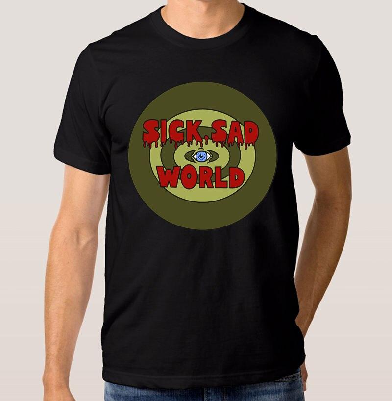 Summer 2018 New Daria Morgendorffer Sick Sad World T-shirt 90s Retro Mens Womens Tee Brand Clothing Hip-Hop Top
