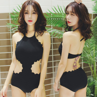 High Quality Solid Special Fabrics Sexy Pink Girl One Pieces Swimwear Underwire Swimsuit Backless Black Pool