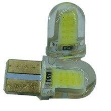 2 pcs T10 LED W5W LED נורות לבן 194 168 מנורת LED 501 COB קצר סיליקון פגז רכב LED אורות סופר מואר הפעל צד מנורת 12 V