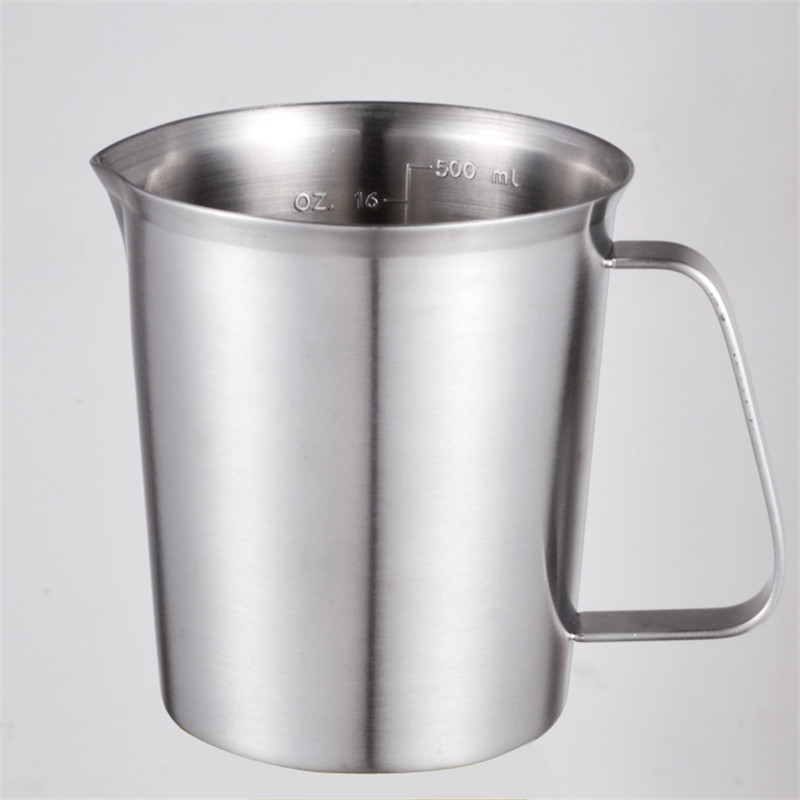 500ml Coffee Measuring Cup Mug Jug Stainless Steel Digital Scale Measure  Cup Jar Perfect High quality-in Milk Jugs from Home & Garden on
