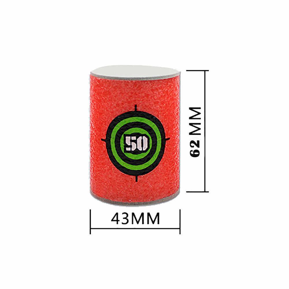 6 Pcs EVA Lembut Peluru Target Dart untuk NERF N-strike Elite Series Blasters Mainan Anak