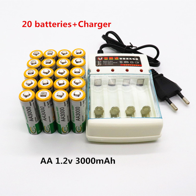 4pcs Daweikala AA 3000 1.2 V Quanlity Rechargeable Battery AA 3000mAh BTY NI-MH 1.2V Rechargeable 2A Battery 3000+Free shipping