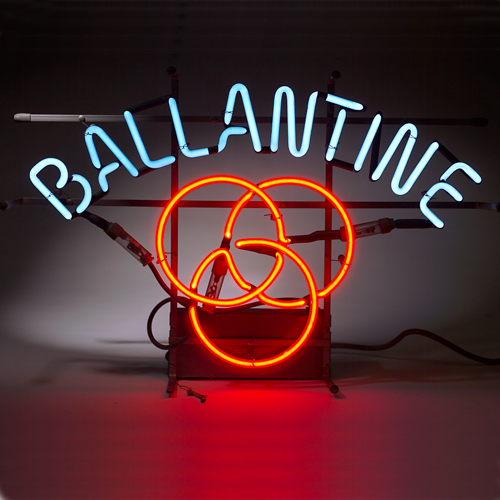 BALLANTINE Custom Beer Bar Glass Neon Light Sign