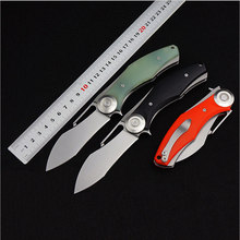 Hot selling D2 blade Stone Washed G10 handle folding knife camping Hunting Survival Tactical tools EDC Multi utility knives