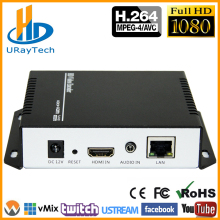 URay MPEG4 H 264 HDMI + MIC To IP Live Streaming Video Encoder H.264 RTMP Encoder HDMI Encoder IPTV H264 With HLS HTTP RTSP UDP