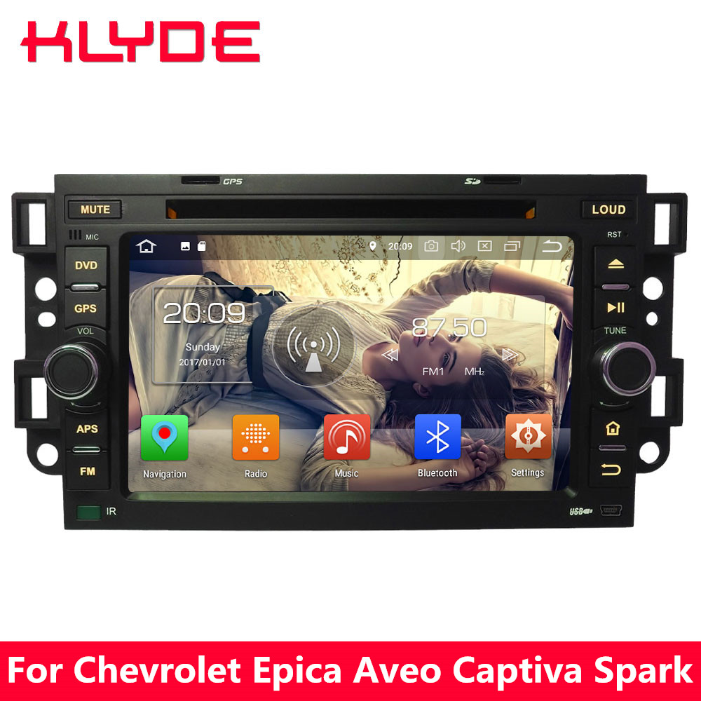 KLYDE Octa Core 4G Android 8.0 4GB RAM 32GB ROM Car DVD Player Stereo For Chevrolet Holden Optra Kalos Aveo Captiva Epica Spark