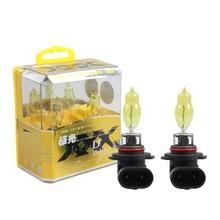 2pc 100w h1 h3 h7 h4 h8 h11 9005 hb3 carro halogênio luz de nevoeiro farol drl hod lâmpada substituição vidro amarelo lâmpada 3000k dourado