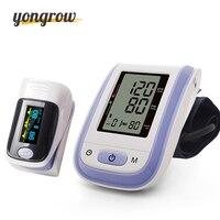 Yongrow Blood Pressure Monitor Di Fingertip Pulse Đo Oxy Đo Áp Suất Meter oximetro de pulso de dedo pulsioximetro
