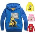 2017 New Children Clothes Kids Outerwear Minions Hoodies Sweatshirts Girls long sleeve sweater Boys Terry Cotton Topwear -1625