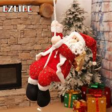 Christmas Santa Claus Doll Toy With Rope Christmas Tree Hanging Ornaments Decoration for Home Xmas Party New Year Gift