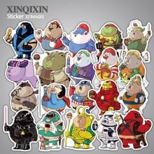 32 st Fet hjälte klistermärke Gullig tecknad anime leksak barn klistermärkear för DIY bärbar telefon bagage skateboard rum klistermärken