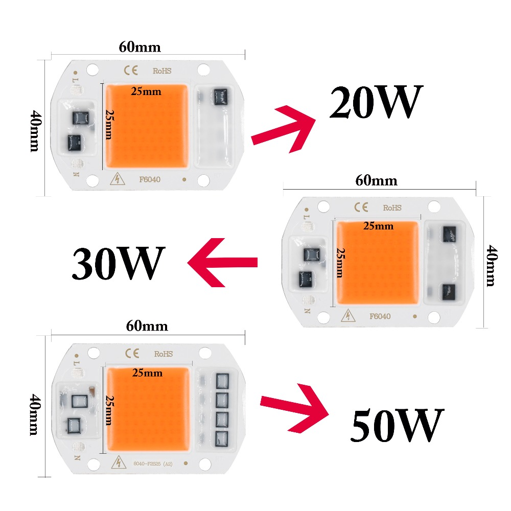 Led Grow Lights New Led Grow Chip Full Spectrum 380nm~780nm 20w 30w 50w Phyto Lamp Led Grow Lights For Seedlings Hydroponics Diy Led Lamp Ac220v Ideal Gift For All Occasions