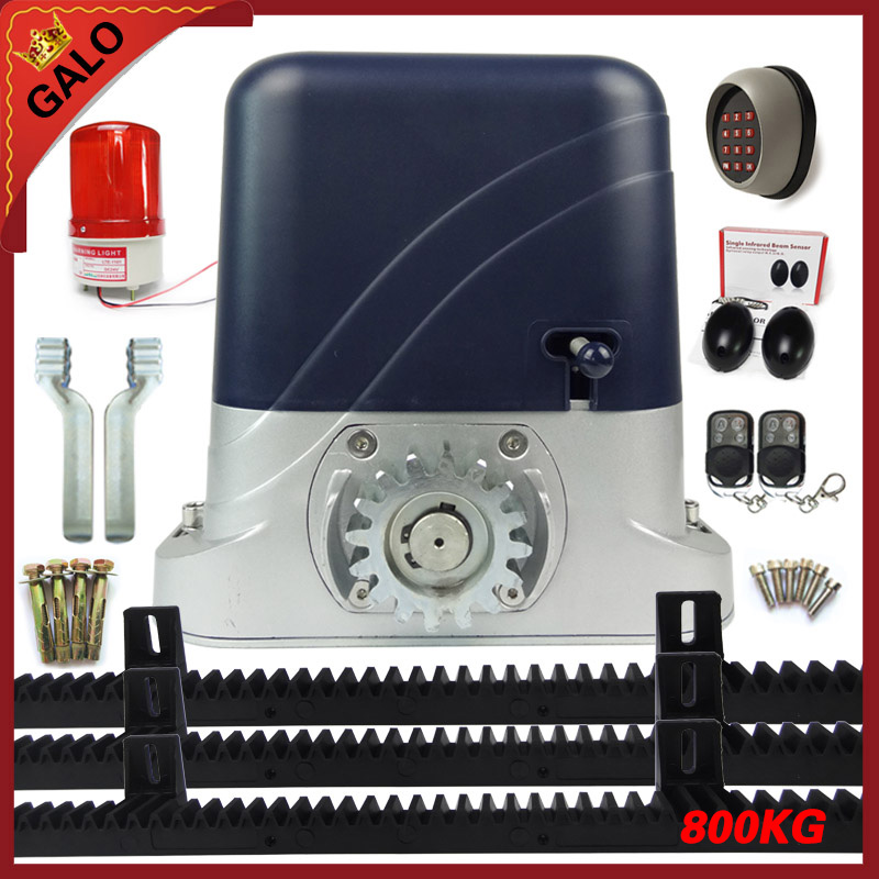 Full set Sliding Automatic and Remote Control Gate Opener for 800kg Portal Weight Sliding Gate Motor