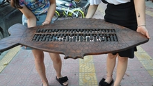 46″Old China Huanghuali Wood Carved Fish Ancient Calculators Abacus CalculationA