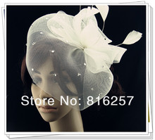 Free shipping high quality fascinator font b hats b font nice bridal hair accessories party font
