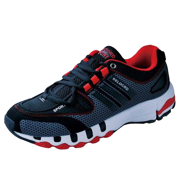 DELOCRD Mens casual shoes Lace Up Wearable Mesh walking shoes for men