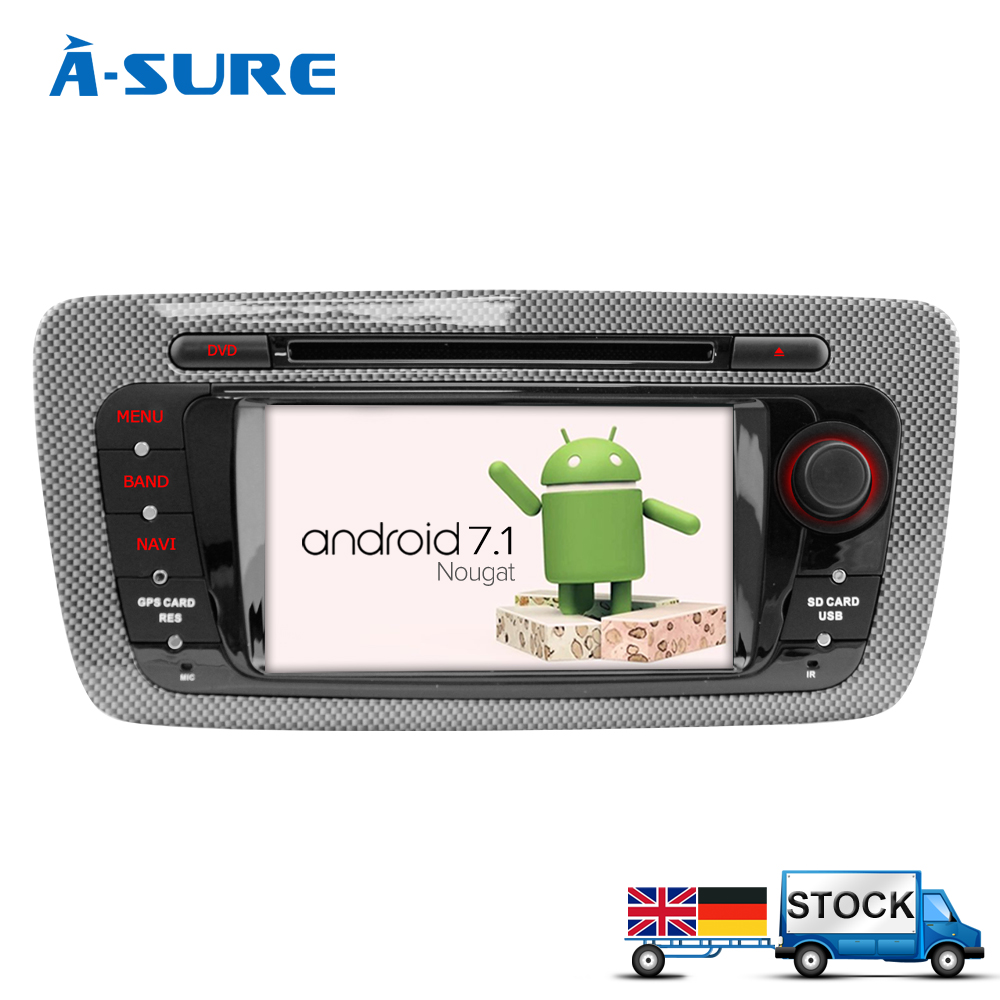 A Sure 1024 600 Android 7 1 Car DVD Player GPS for Seat Ibiza 2009 2013