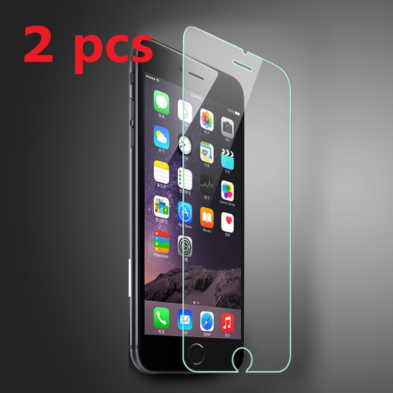 2pcs 9H Tempered Glass For IPhone X Glass Protector For IPhone 6 6s Plus 8 8 Plus 7 5 5s 5c SE 4 4s Protective Hard Glass Film