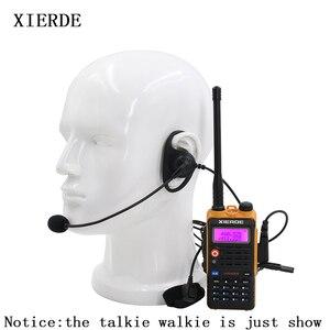 Image 1 - 2 контактная тактическая гарнитура D образной формы с микрофоном PTT, наушники вкладыши, наушники для рации Baofeng Kenwood Talkie