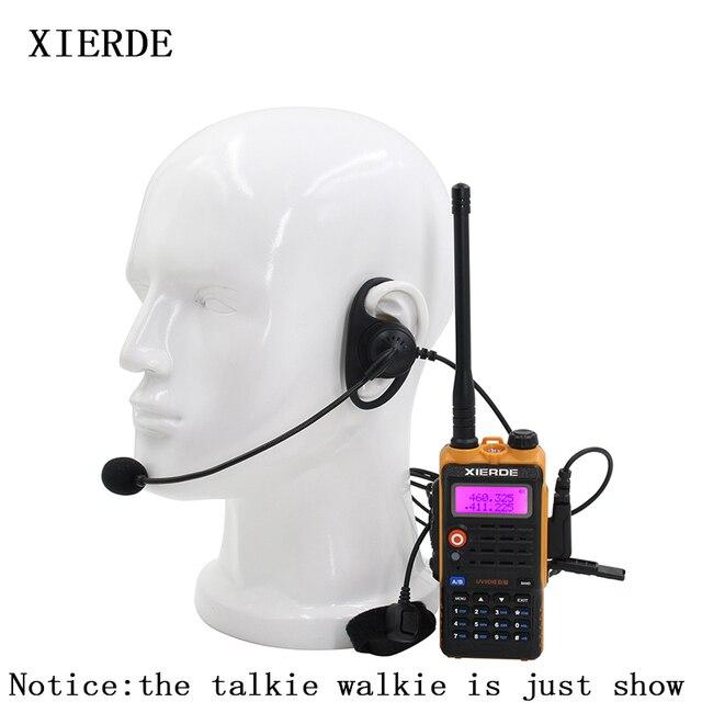2 контактная тактическая гарнитура D образной формы с микрофоном PTT, наушники вкладыши, наушники для рации Baofeng Kenwood Talkie