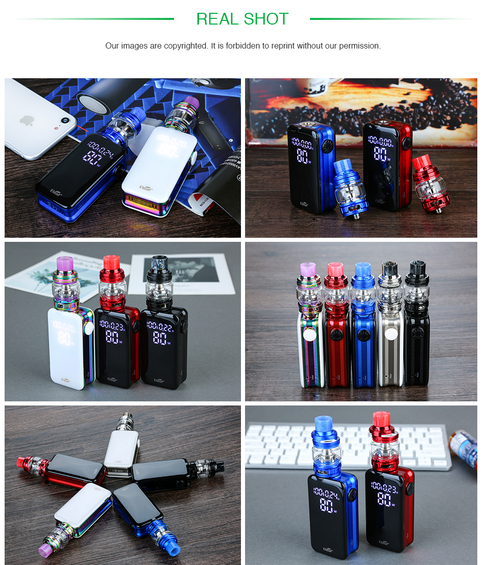 , 100% Original Eleaf iStick NOWOS with ELLO Duro kit 6.5ml with 4400mAh battery & HW-M/HW-N Dual Head Faster Charging Vape Kit
