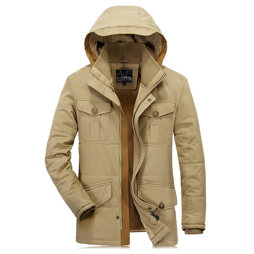 New 2017 Brand Cotton Warm Jacket Autumn And Winter Mens Coats Business Man Jacket Plus Cotton Cashmere Thickened D180