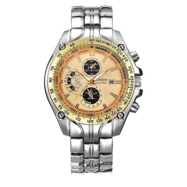 hodinky titan XINEW Brand Men s Military Watches Men Calendar Clock Luxury  Stainless Steel Quartz Wrist Watch Mens Relogio Mascu 72420371db3