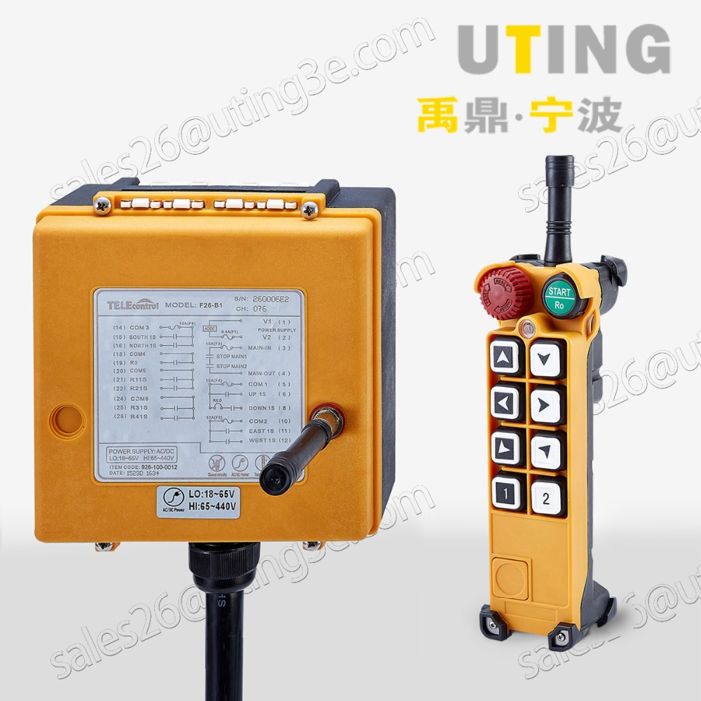 Telecontrol F26-A1 Industrial Radio Remote Control AC/DC Universal Wireless Control for Crane Controller1 transmitter 1 receiver niorfnio portable 0 6w fm transmitter mp3 broadcast radio transmitter for car meeting tour guide y4409b