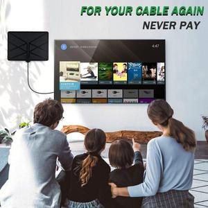 Image 2 - TV Aerial Indoor Amplified Digital HDTV Antenna 960 Miles Range With 4K HD DVB T Freeview TV For Life Local Channels Broadcast