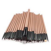 Brand 20pcs/set Makeup Brushes Set Make-up Tools Toiletry Wool Eyebrow Eyeliner Make Up Brush kits kwasten pinceis de maquiagem