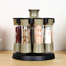 8 шт./компл. многоцелевой приправы банки в бутылках пластмассовые для приправ резервуар для дома для баночек со для соли/мельница/соуса специи Кухня инструмент 1 шт