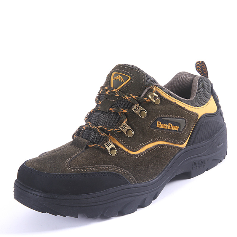 2017 Autumn Winter Mountain Shoes Army Green Men Trekking Hiking Sneakers Leather Male Outdoor Shoes Lace Up Hunting Boots Men 2017 tba men s shoes hunting mountain shoes lace up suede leather martin boots breathable outdoor hiking shoes t5983