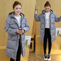 Women Jacket Polyester Cotton Thick Soft Fabric Down Black Colors Hooded Coat Woman Clothes Winter Jacket With Pockets