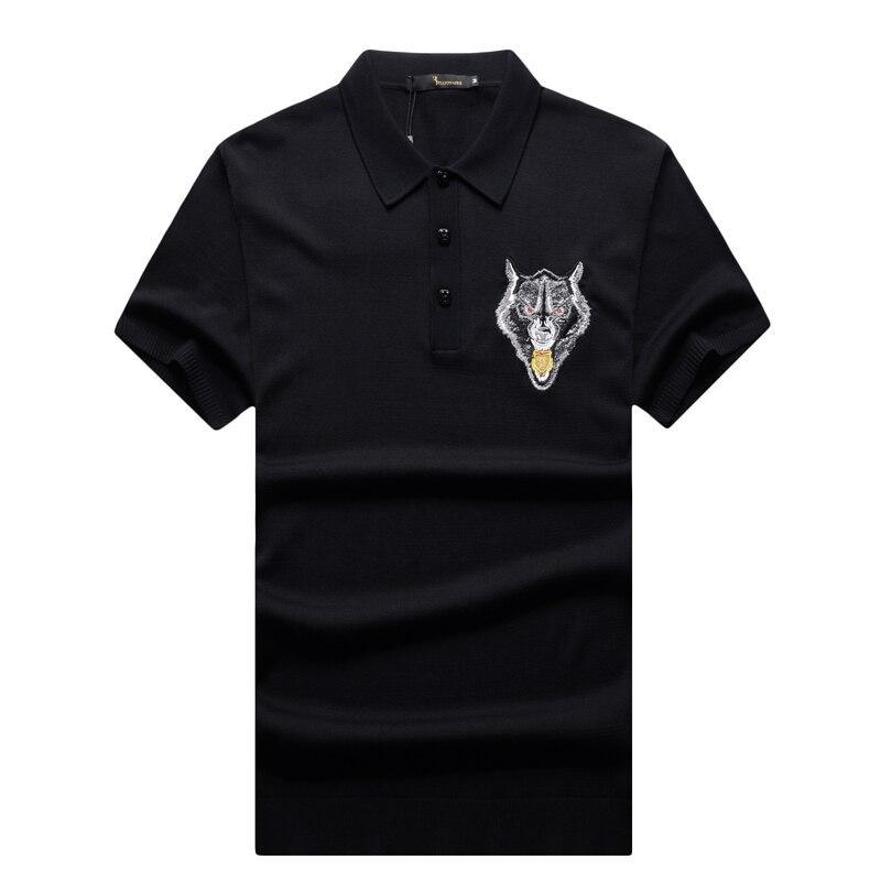 T shirt uomo couture italiana miliardario 2017 lancio summer fashion comfort ricamato progettato gentleman spedizione gratuita-in Magliette da Abbigliamento da uomo su  Gruppo 3