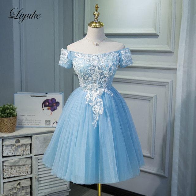 Sky Blue Cocktail Dresses